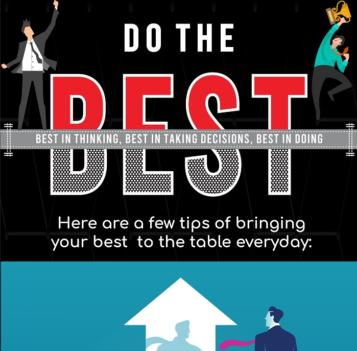 Do the Best: Here are a few tips of bringing your best to the table everyday